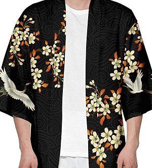 camisa kimono hombre