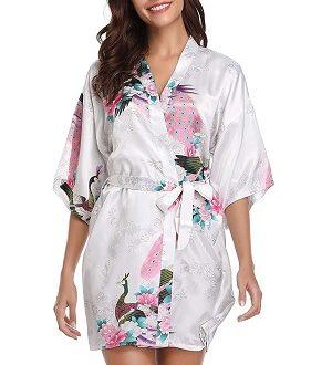kimono blanco floral