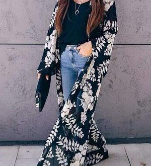 kimono largo de vestir para mujer